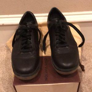 Louis Vuitton  black platform tennis shoes